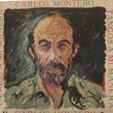 Discos de vinilo: CARLOS MONTERO-TANGOS A MI MANERA-1987-VINILO NUEVO. Lote 86241611