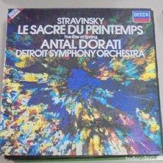 Discos de vinilo: LP. STRAVINSKY. LE SACRE DU PRINTEMPS. ANTAL DORATI. DETROIT SYMPHONY ORCHESTRA. 1982. Lote 102640623