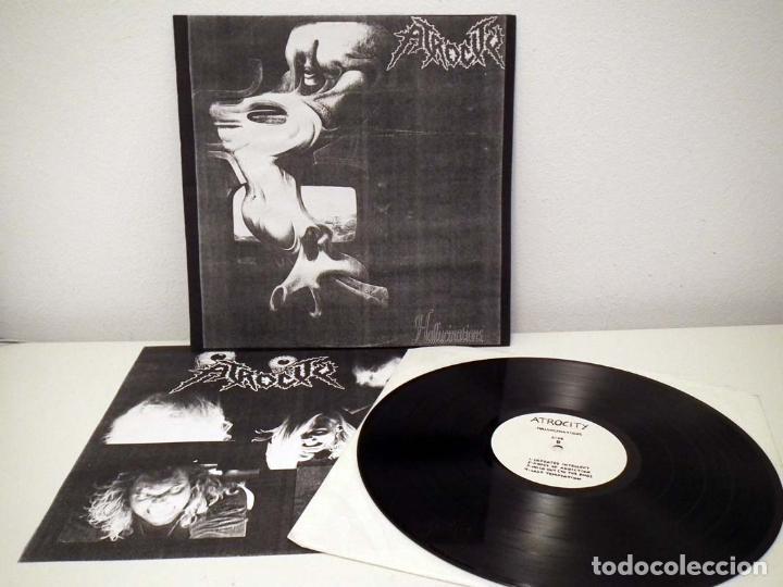 Discos de vinilo: LP ATROCITY - HALLUCINATIONS TEST PRESSING 1991 - Foto 2 - 31300778