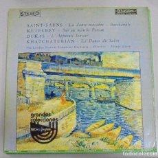 Discos de vinilo: LP. SAINT-SANES / KETELBEY / DUKAS / KHATCHATURIAN. 1976. RICHESSE CLASSIQUE. Lote 86259200