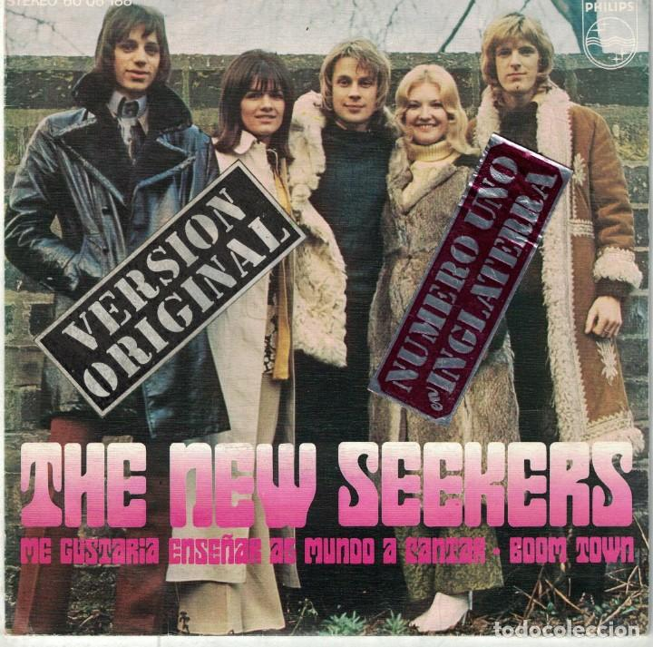 Discos de vinilo: THE NEW SEEKERS - ID LIKE TO TEACH THE WORLD TO SING / BOOM TOWN (SINGLE ESPAÑOL, PHILIPS 1972) - Foto 1 - 86260088