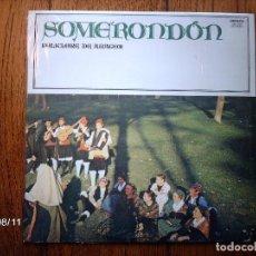 Discos de vinilo: SOMERONDON - FOLKLORE DE ARAGON . Lote 86261112