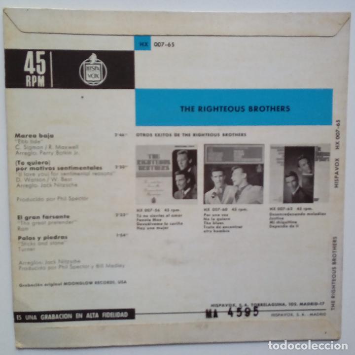 Discos de vinilo: THE RIGHTEOUS BROTHERS- (TE QUIERO) POR MOTIVOS PERSONALES- SPAIN EP 1965- EXC. ESTADO. - Foto 2 - 86263180