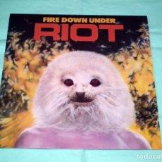Discos de vinilo: LP RIOT - FIRE DOWN UNDER. Lote 56913635