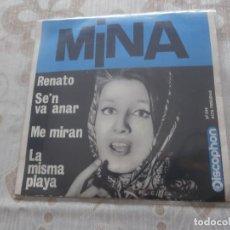 Discos de vinilo: MINA 7´EP RENATO + 3 TEMAS (1963) VINILO COMO NUEVO EDITADO POR DISCOPHON *RAREZA*. Lote 86271772