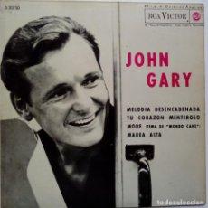Discos de vinilo: JOHN GARY- MELODIA DESENCADENADA (UNCHAINED MELODY) + 3- SPANISH EP 1964- VINILO EXC. ESTADO.. Lote 86275336