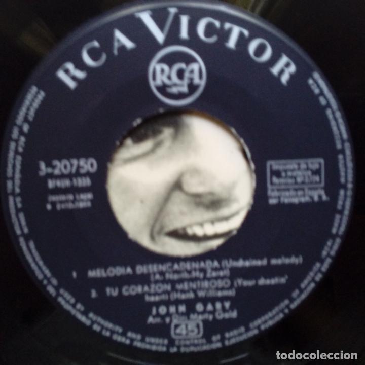 Discos de vinilo: JOHN GARY- MELODIA DESENCADENADA (UNCHAINED MELODY) + 3- SPANISH EP 1964- VINILO EXC. ESTADO. - Foto 3 - 86275336