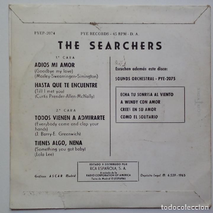 Discos de vinilo: THE SEARCHERS- ADIOS MI AMOR ( GOODBYE MY LOVE)- SPANISH EP 1965- VINILO EXC. ESTADO. - Foto 2 - 86275828