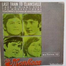 Discos de vinilo: THE MONKEES- LAST TRAIN TO CLARKSVILLE + 3- SPANISH EP 1966- VINILO EXC. ESTADO.. Lote 86278704