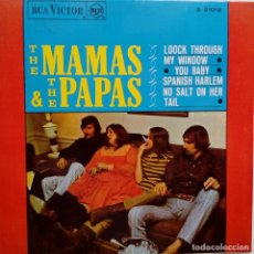 Discos de vinilo: THE MAMAS & THE PAPAS- LOOK THROUGH MY WINDOW +3- SPANISH EP 1966- VINILO EXC. ESTADO.. Lote 86278980