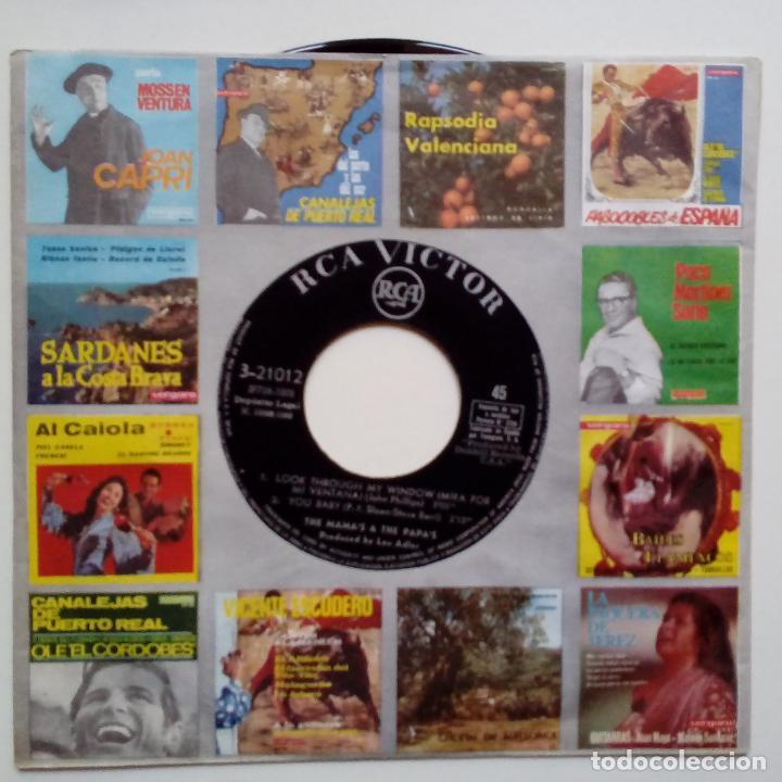 Discos de vinilo: THE MAMAS & THE PAPAS- LOOK THROUGH MY WINDOW +3- SPANISH EP 1966- VINILO EXC. ESTADO. - Foto 3 - 86278980