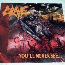 Discos de vinilo: LP GRAVE - YOU´LL NEVER SEE. Lote 83949968