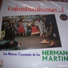 Discos de vinilo: LP DE LOS HERMANOS MARTINEZ, COLOMBIANISIMAS ... EDICION SONOLUX (COLOMBIA). RARO. D.. Lote 86294308