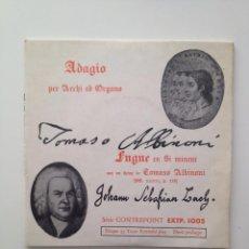 Discos de vinilo: ENSEMBLE INSTRUMENTAL SINFONIA (DIR:JEAN WITOLD):ALBINONI/BACH. Lote 86299012