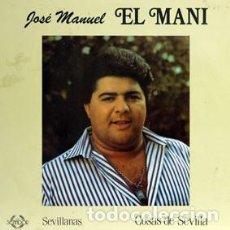 Discos de vinilo: SEVILLANAS - EL MANI - COSAS DE SEVILLA (LP) 1988 (DEDICADO POR EL ARTISTA). Lote 86304260