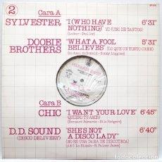 Discos de vinilo: VARIOS ( SYLVESTER–THE DOOBIE BROTHERS-CHIC -D.D. SOUND) HISPAVOX DISCO 2. Lote 86306800