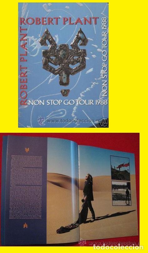 7205cced LED ZEPPELIN, ROBERT PLANT / PROGRAMA OFICIAL, TOUR BOOK NON STOP GO TOUR  1998