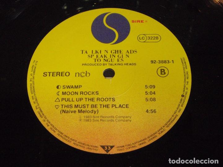 Discos de vinilo: TALKING HEADS ( SPEAKING IN TONGUES ) 1983-GERMANY LP33 SIRE RECORDS - Foto 5 - 145983964