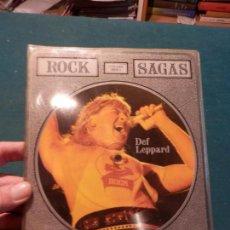 Discos de vinilo: DEF LEPPARD - THE CHRIS TETLEY INTERVIEWS - ROCK SAGAS - LIMITED EDITION - DOBLE SINGLE PICTURE DISC. Lote 86343728