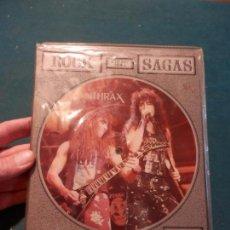 Discos de vinilo: ANTHRAX - THE CHRIS TETLEY INTERVIEWS - ROCK SAGAS - LIMITED EDITION - DOBLE SINGLE PICTURE DISC. Lote 86343972