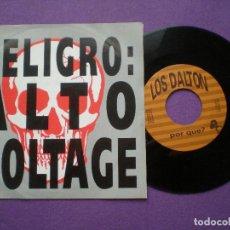 Discos de vinilo: LOS DALTON - EN BARACALDO / POR QUE? - SINGLE BASATI DISKAK 1993 // PUNK ROCK VASCO BASQUE . Lote 86350408