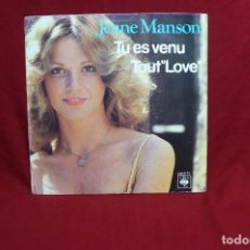 Discos de vinilo: JEANE MANSON / TU ES VENU / TOUT LOVE / CBS 8775 / 1980.. Lote 86370464