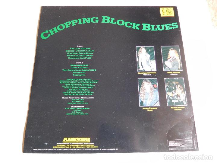 Discos de vinilo: Blood Feast. LP. Chopping block blues. Flametrader 1990 - Foto 2 - 86371424