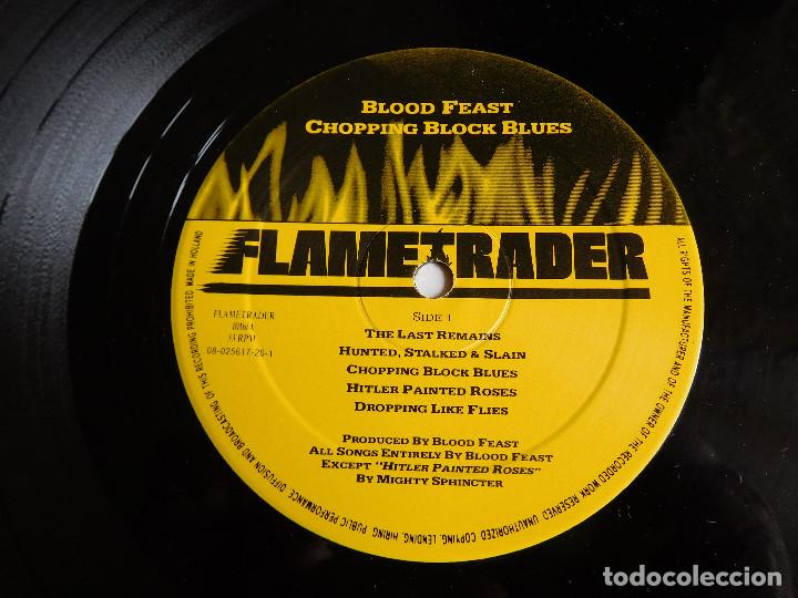 Discos de vinilo: Blood Feast. LP. Chopping block blues. Flametrader 1990 - Foto 4 - 86371424