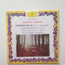 Discos de vinilo: JOHANNES BRAHMS: SYMPHONIE Nº 3 /DANSES HONGROISES (DIR : HERBERT VON KARAJAN). Lote 86374076