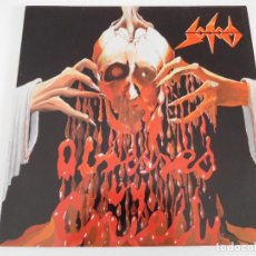 Discos de vinilo: SODOM. LP. OBSESSED BY CRUELTY. STEAM HAMMER RECORDS 1986. Lote 86380304