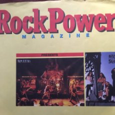 Discos de vinilo: EP-ROCK POWER MAGAZINE-SEPULTURA/ATOM SEED-1991-FLEXIDISC-RARO. Lote 86387160