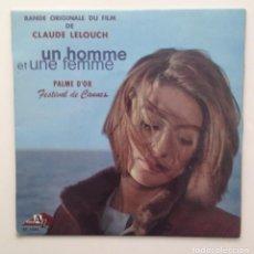 Discos de vinilo: BSO :UN HOMME & UNE FEMME ( C.LELOUCH) EP/FRANCE. Lote 86399728