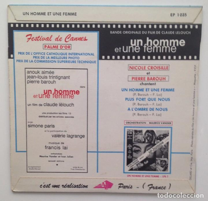 Discos de vinilo: BSO :UN HOMME & UNE FEMME ( C.LELOUCH) EP/FRANCE - Foto 2 - 86399728