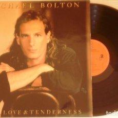 Discos de vinilo: LP MICHAEL BOLTON TIME, LOVE AND TENDERNESS CBS SONY 1991. Lote 86400936
