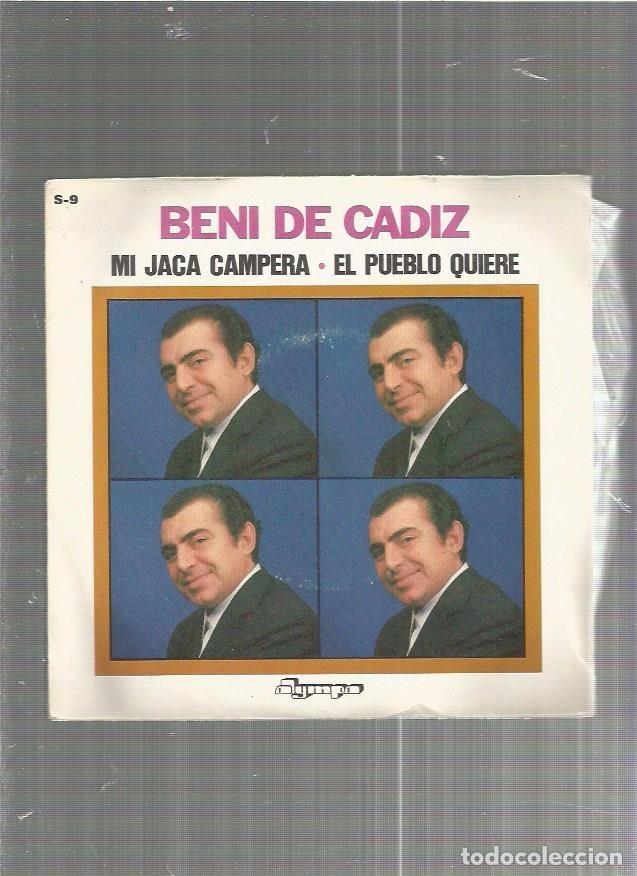 BENI CADIZ JACA CAMPERA (Música - Discos - Singles Vinilo - Flamenco, Canción española y Cuplé)