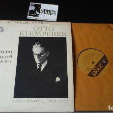 Discos de vinilo: ?BEETHOVEN - OTTO KLEMPERER ?– SYMPHONY NO. 1 / SYMPHONY NO. 8 LP ANGEL RECORDS ?– S 35657 USA. Lote 86432284