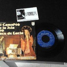 Discos de vinilo: ?EL CAMARON DE LA ISLA CON PACO DE LUCIA - A BELEN PASTORES / UN RAYO DE SOL - PHILIPS 60 29 259. Lote 86433972