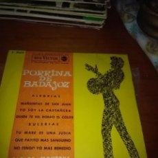Discos de vinilo: PORRINA DE BADAJOZ. ALEGRIAS. MB2.. Lote 86436392
