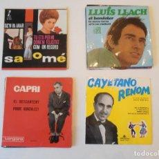 Discos de vinilo: LOTE DE 10 VINILOS SINGLES CANTADOS EN CATALAN EN LA DÉCADA DE LOS 60. SALOMÉ, LLUIS LLACH. VER FOTO. Lote 86449572