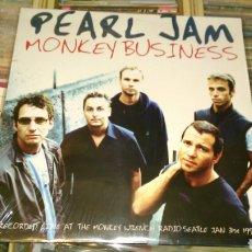Discos de vinilo: PEARL JAM LP NO OFICIAL MONKEY BUSINESS GRABADO DIRECTO EN 1998.PRECINTADO. Lote 86491960