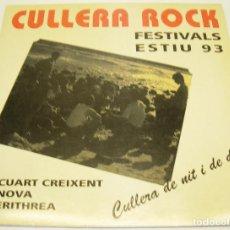 Discos de vinilo: VINILO - LP- CULLERA ROCK - CUART CREIXENT - NOVA - ERITHREA - GESART 1993. Lote 86498247