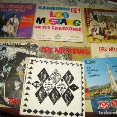Discos de vinilo: LOS MUSTANG - GRAN LOTE DE 24 SINGLES. Lote 86504000