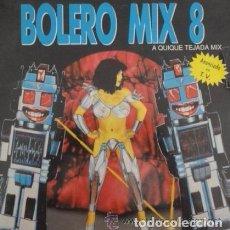 Discos de vinilo: BOLERO MIX 8 A QUIQUE TEJADA MIX PROMO BLANCO Y NEGRO 1991 . Lote 86522460