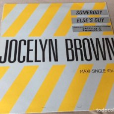 Discos de vinilo: JOCELYN BROWN. SOMEBODY / ELSE´S GUY. ISLAND 1984. Lote 86535268