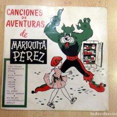 Discos de vinilo: CANCIONES DE AVENTURAS MARIQUITA PEREZ ACTORES RADIO JUVENTUD 7 EP 1959 OGRO VERDE. Lote 86535908