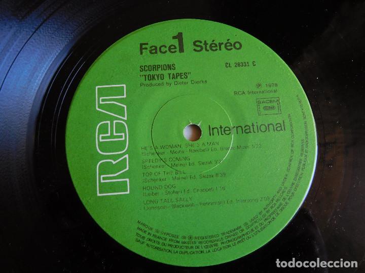 Discos de vinilo: Scorpions. 2 LP. Tokyo Tapes. Edición francesa. RCA International 1978 - Foto 6 - 86543844