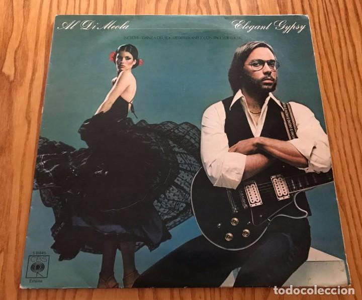 AL DI MEOLA - ELEGANT GYPSY CON PACO DE LUCIA MÚSICA LP DISCO EN MUY BUEN ESTADO (Música - Discos - Singles Vinilo - Jazz, Jazz-Rock, Blues y R&B)
