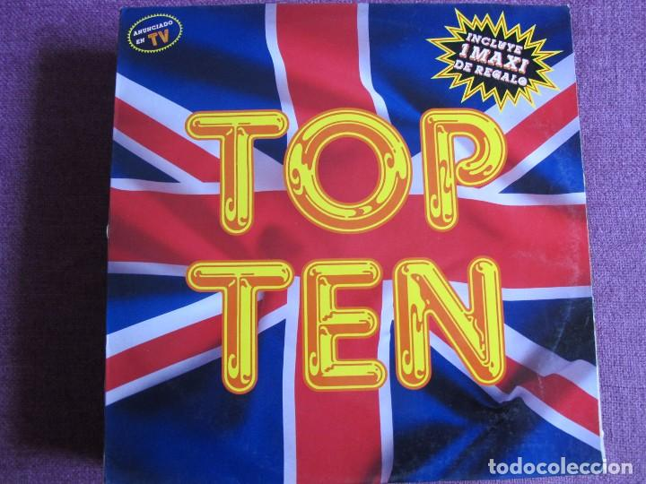 Discos de vinilo: LP - TOP TEN - VARIOS (SPAIN, BLANCO Y NEGRO MUSIC 1989, CONTIENE MAXI DE REGALO) - Foto 1 - 86570680