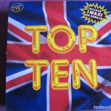 Discos de vinilo: LP - TOP TEN - VARIOS (SPAIN, BLANCO Y NEGRO MUSIC 1989, CONTIENE MAXI DE REGALO). Lote 86570680