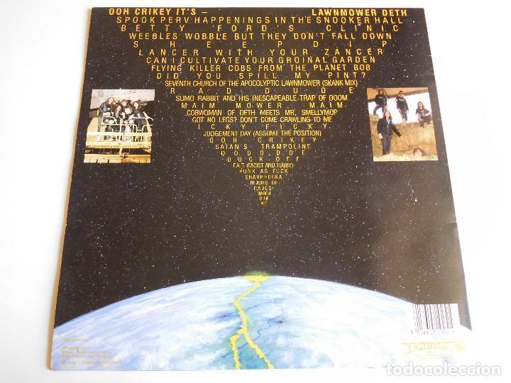 Discos de vinilo: Lawnmower Deth. LP. Ohh Crikey it´s. Earache Records 1990 - Foto 2 - 86572760